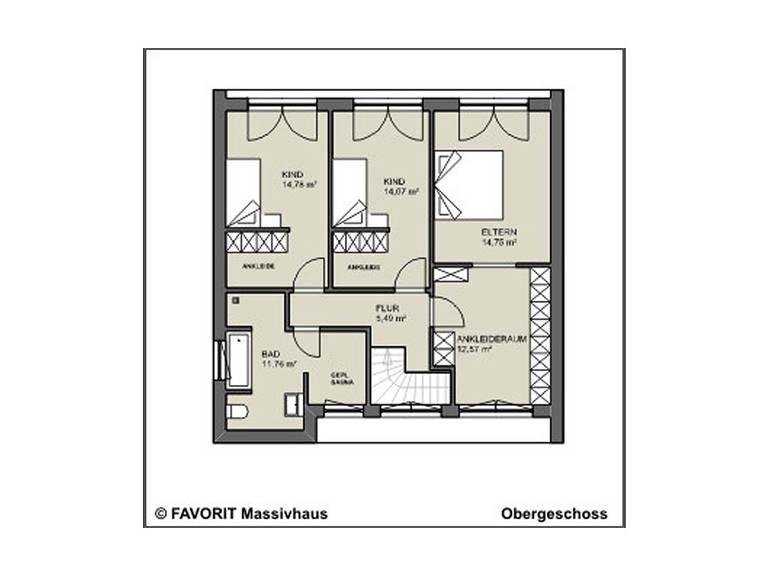 conceptDESIGN 148 Grundriss Dachgeschoss
