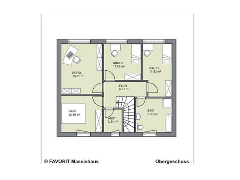 Citylife 143 Grundriss Dachgeschoss