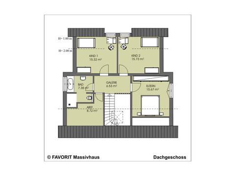 Kreativ Sun 156 Grundriss Dachgeschoss