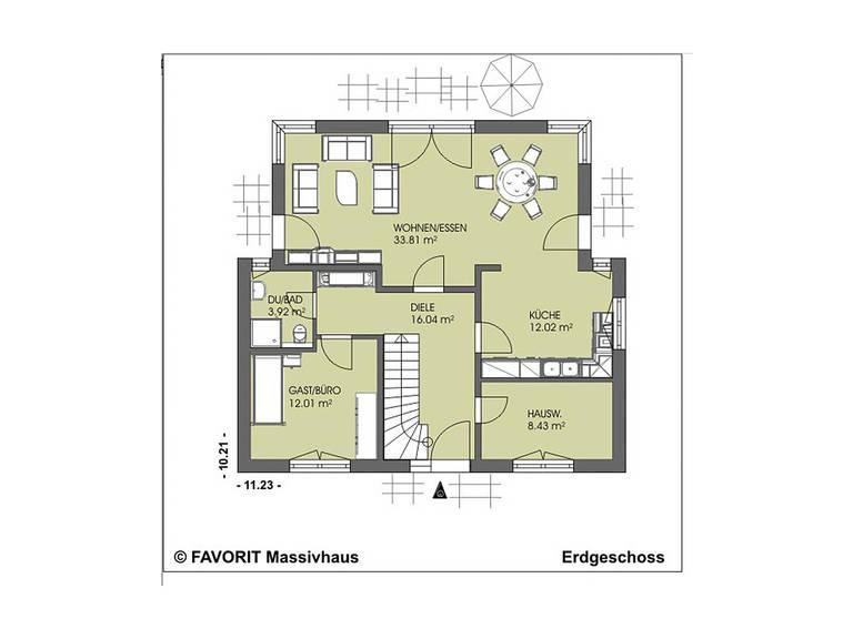 Kreativ Sun 156 Grundriss Erdgeschoss