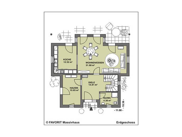Ambiente 136 Grundriss Dachgeschoss
