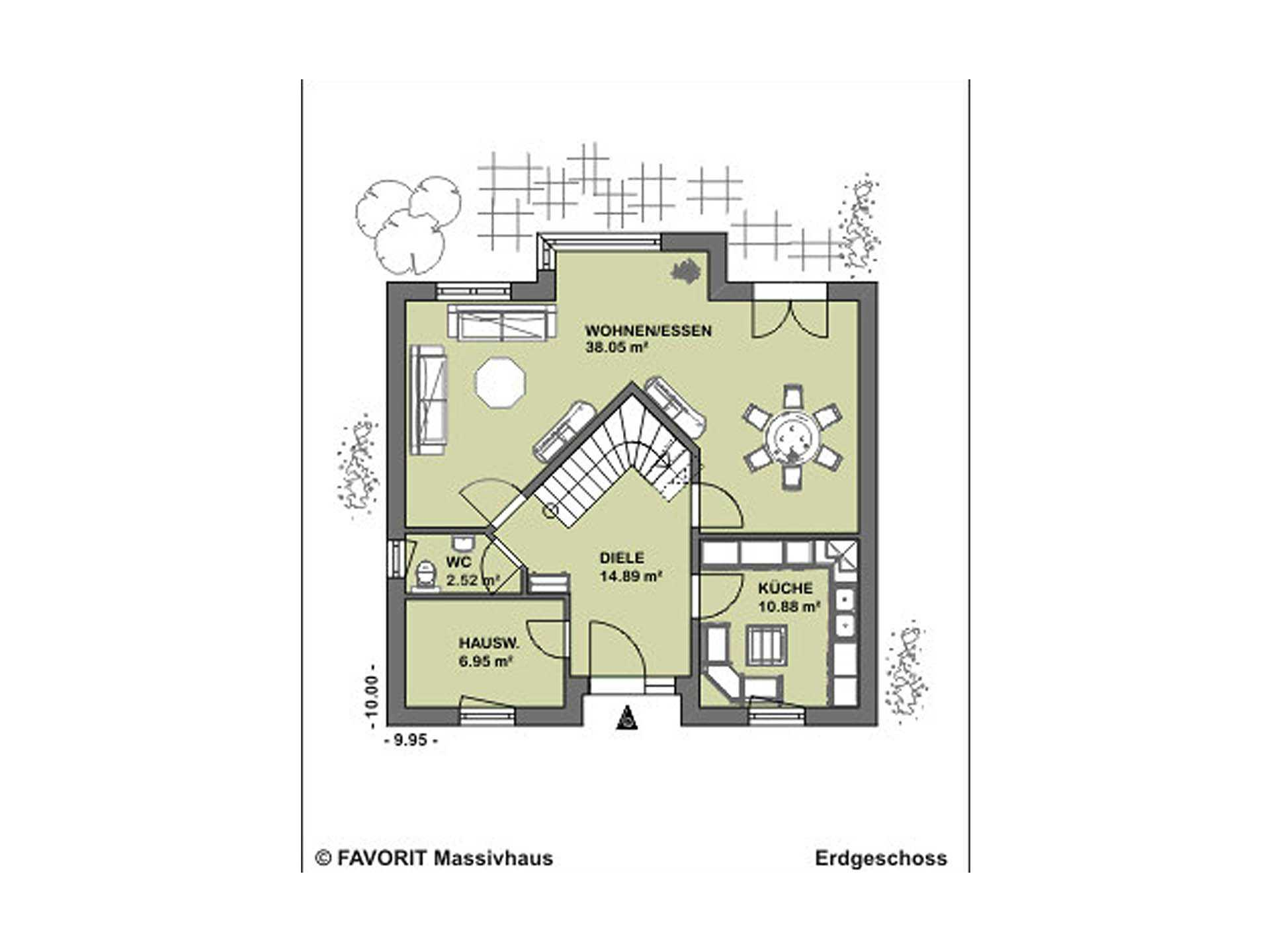 Select Design 143 Grundriss Erdgeschoss