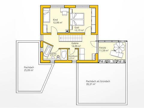Energiesparhaus Grundriss Dachgeschoss