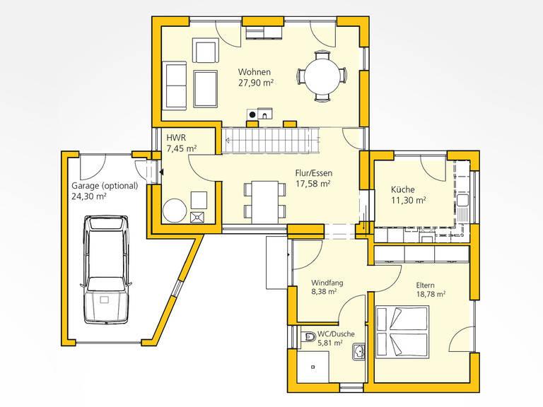innovationshaus aktivplus ytong bausatzhaus. Black Bedroom Furniture Sets. Home Design Ideas