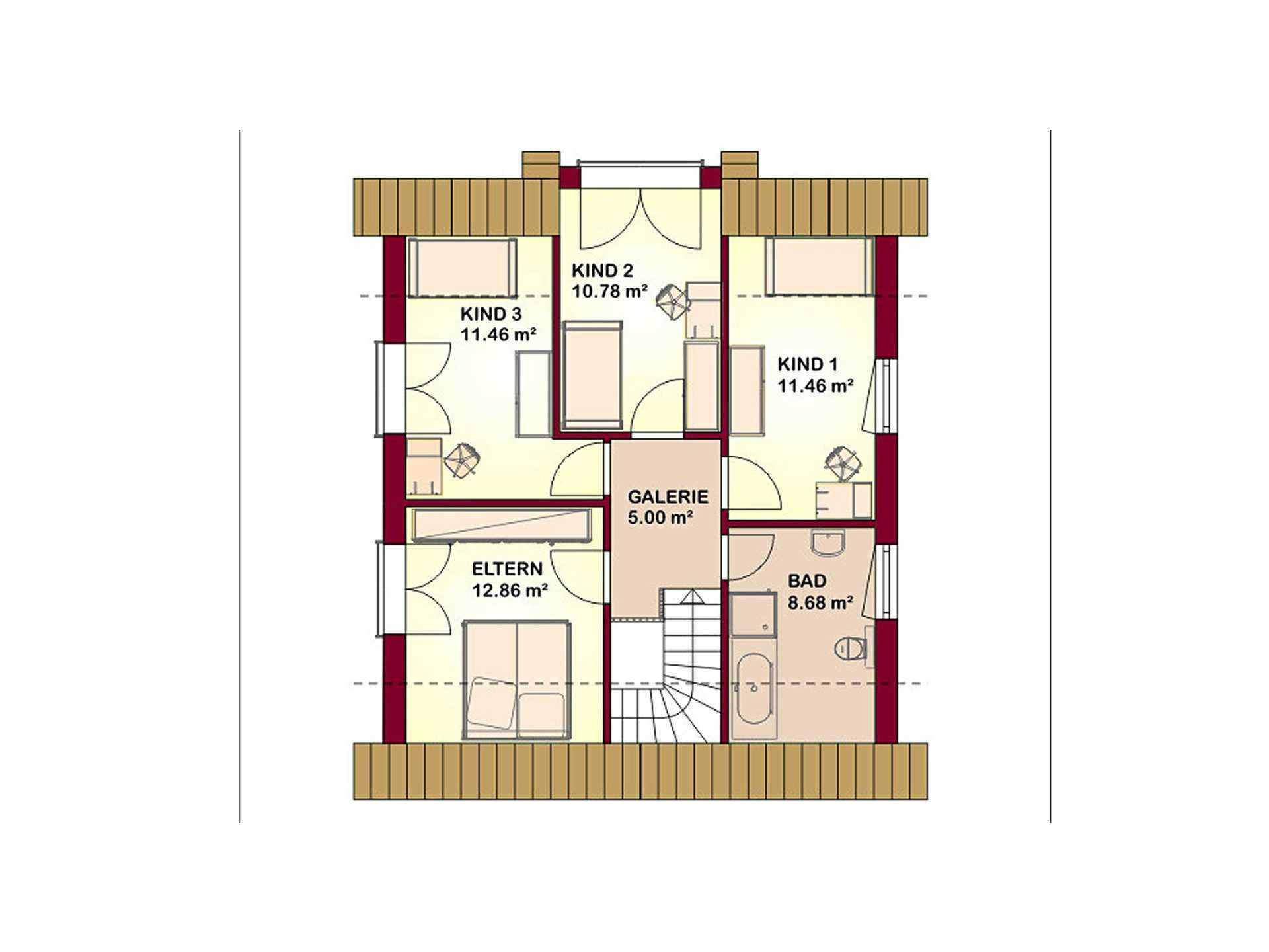 Kompliment 130 Grundriss Dachgeschoss