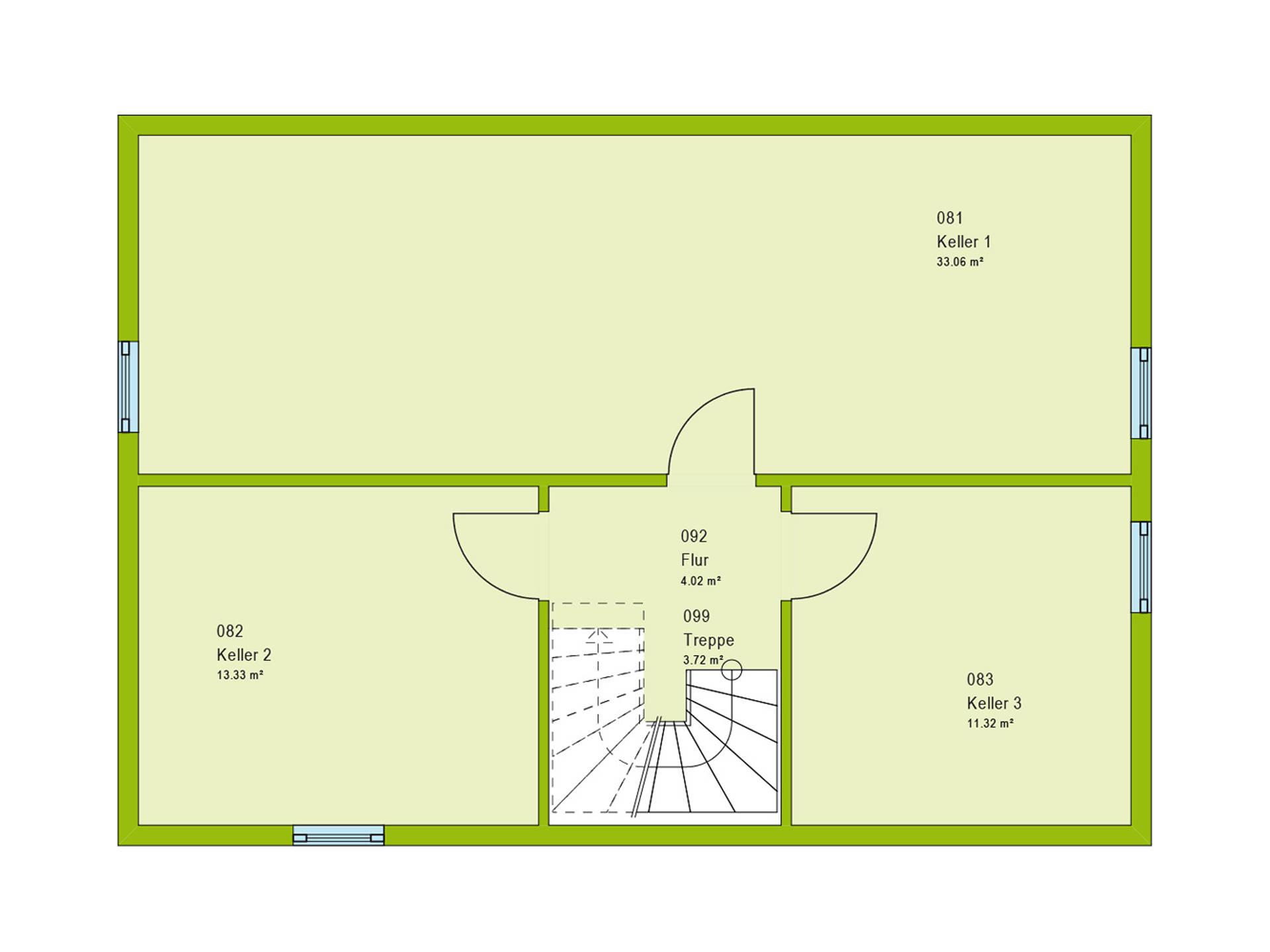 Pultdachhaus Contur 1 Grundriss KG von massa haus