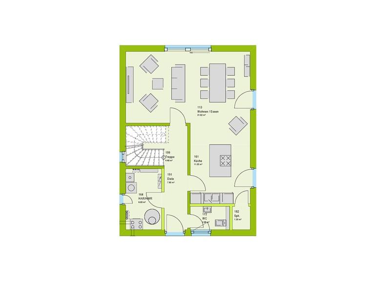 Massa Haus LifeStyle 28 Grundriss EG