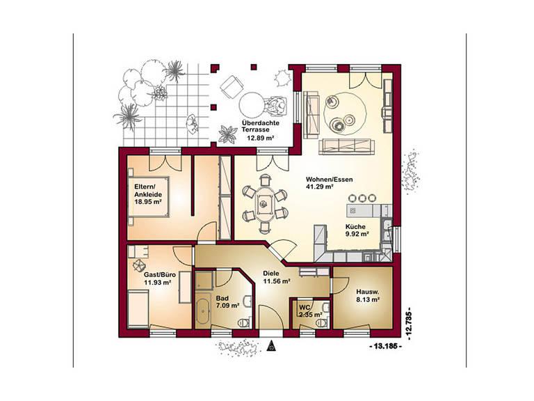 Chalet 125 Grundriss Erdgeschoss