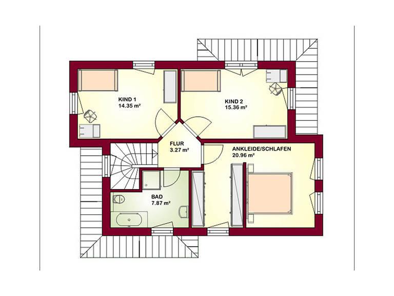 Ambiente 128 Grundriss Dachgeschoss