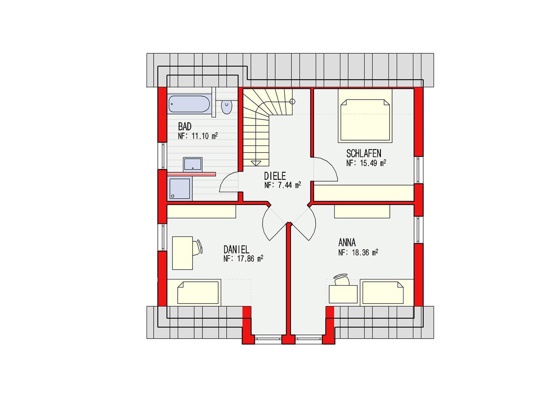 Dörr Haus - Einfamilienhaus Ambiente 144 Grundriss DG