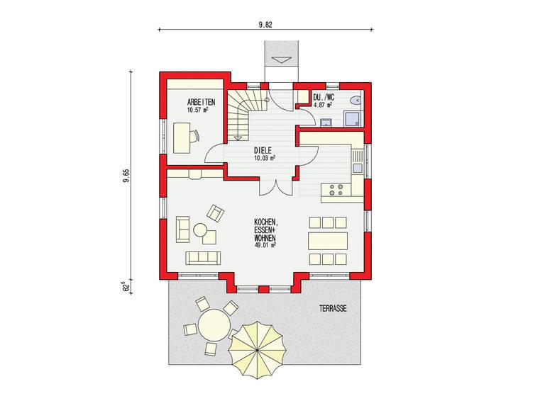 Dörr Haus - Einfamilienhaus Ambiente 144 Grundriss EG