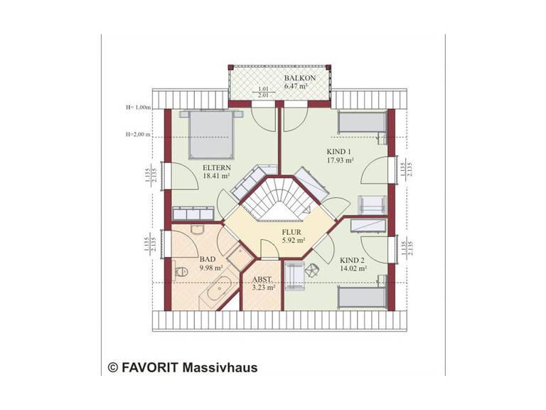 Haus Nobelesse 155 Grundriss Dachgeschoss