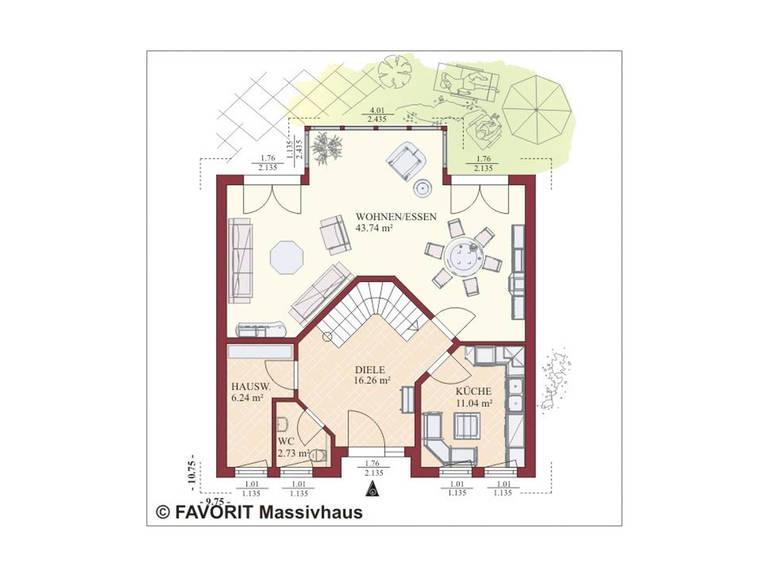 Haus Nobelesse 155 Grundriss Erdgeschoss