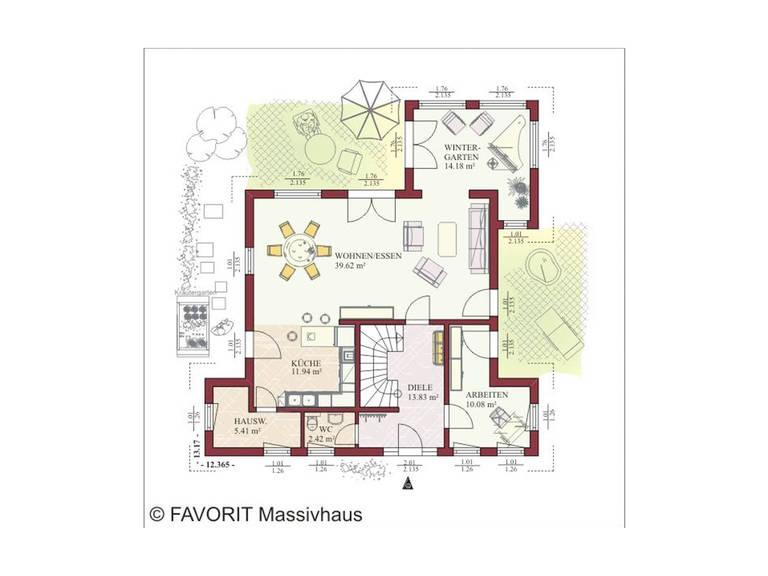 Haus Ambiente 157 Grundriss Dachgeschoss