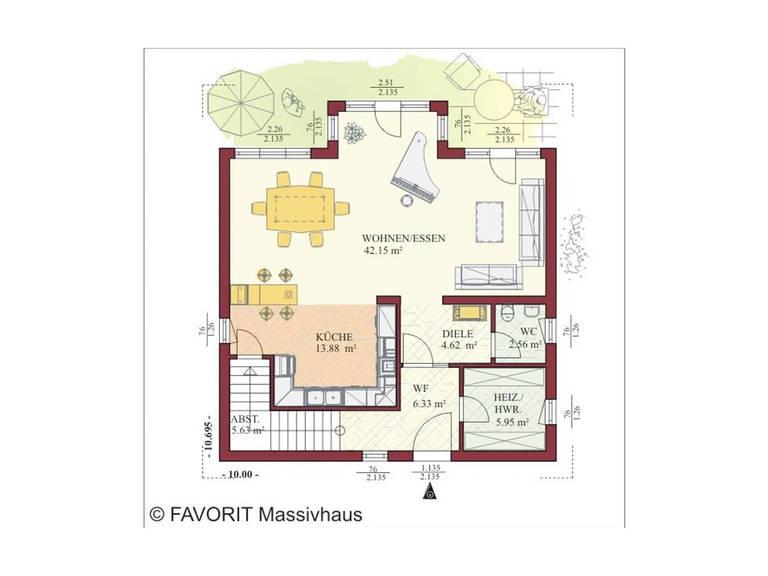 Haus Kreativ Sun 164 Grundriss Erdgeschoss