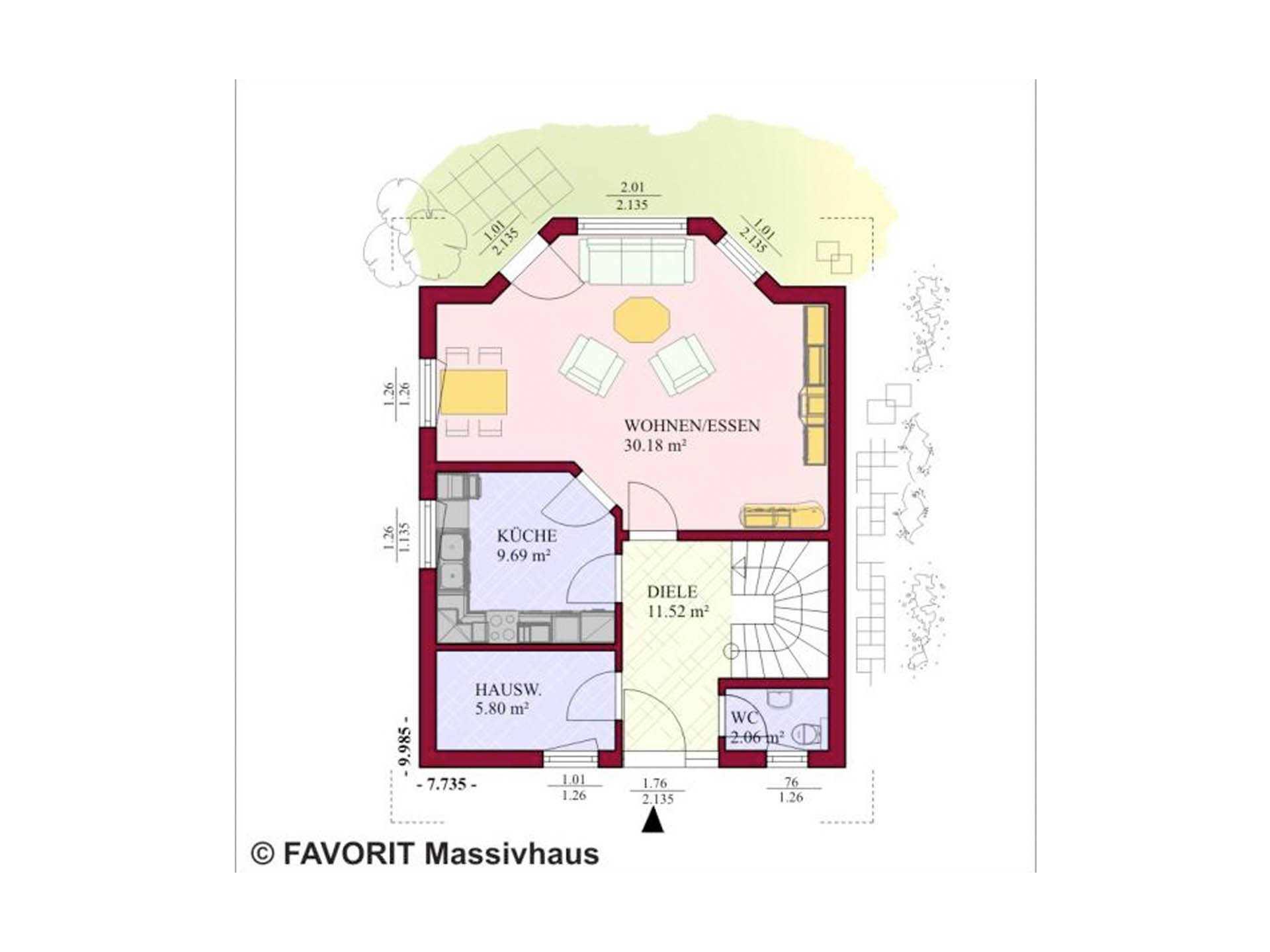 Haus Alpenland 119 Grundriss Erdgeschoss