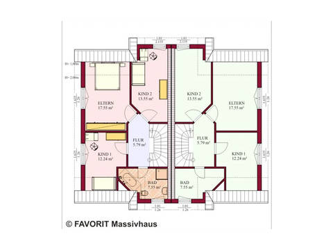 Doppelhaus Finesse 115 Grundriss Dachgeschoss