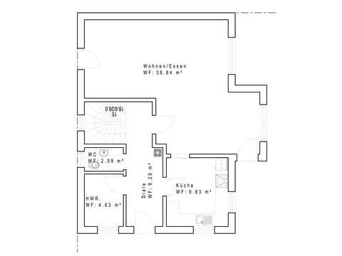Einfamilienhaus SD121 - Grundriss EG