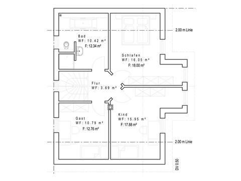 Einfamilienhaus SD121 - Grundriss OG