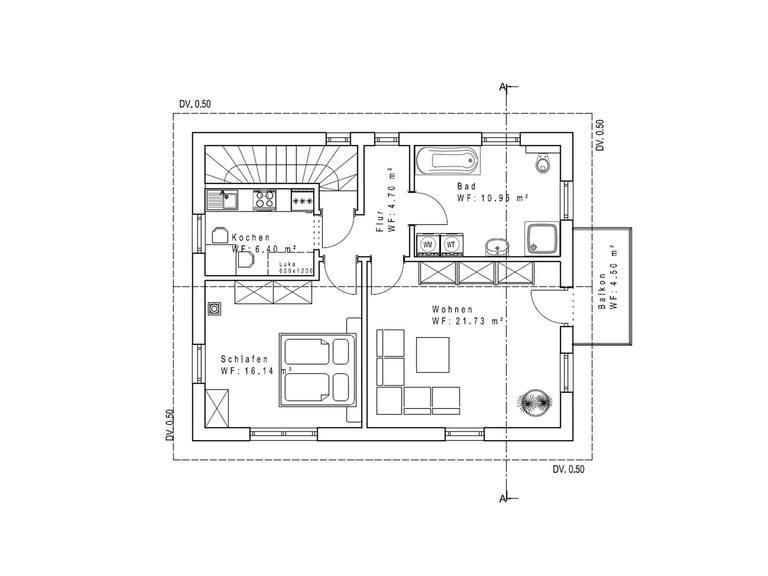 Haustyp SD121-2F Sachsenheimer Fertighaus Grundriss OG