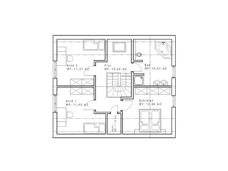 Einfamilienhaus SD131 Grundriss DG