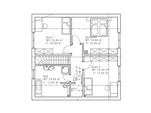 Haustyp Satteldachhaus 133 DG - Sachsenheimer Fertighaus