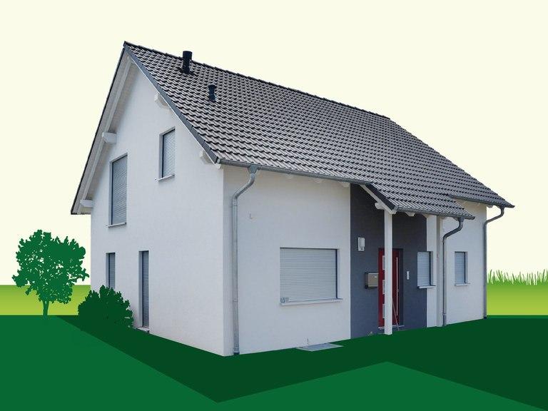 Haustyp Satteldachhaus 133 - Sachsenheimer Fertighaus