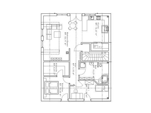 Haustyp SD191-2F Grundriss DG - Sachsenheimer Fertighaus