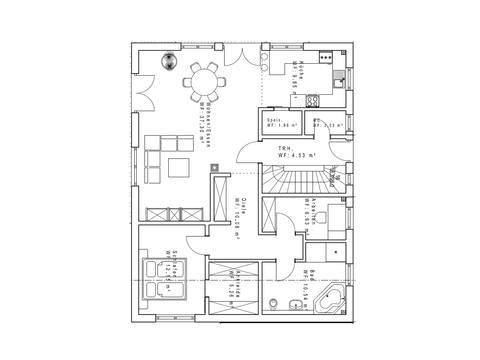 Haustyp SD191-2F Grundriss EG - Sachsenheimer Fertighaus