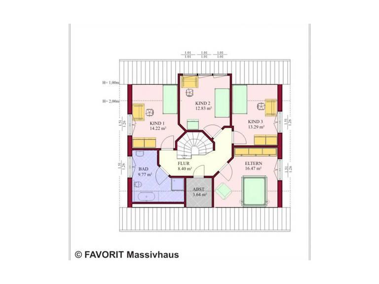 Haus Galant 165 Grundriss Dachgeschoss