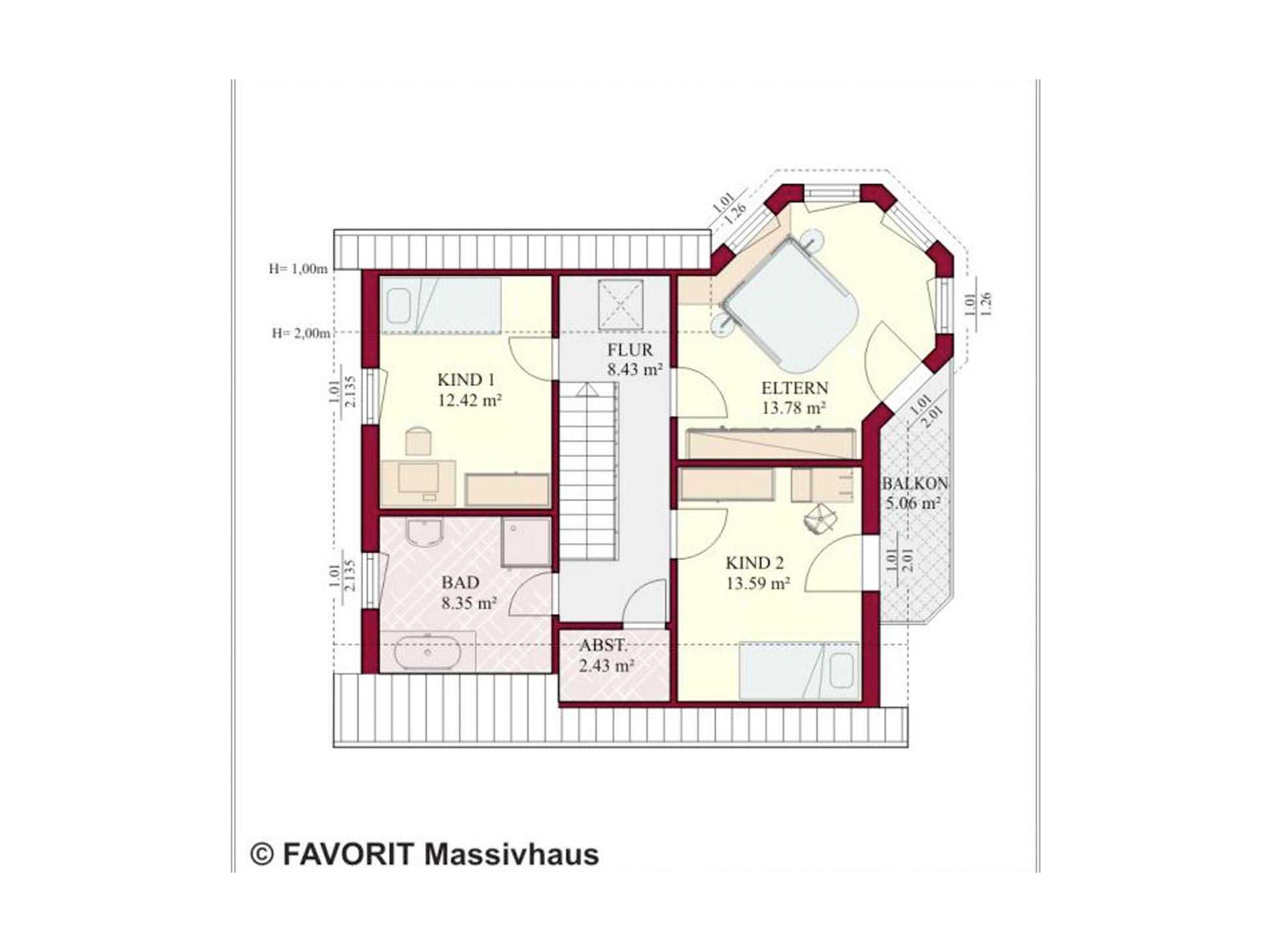 Haus Select 130 Grundriss Dachgeschoss
