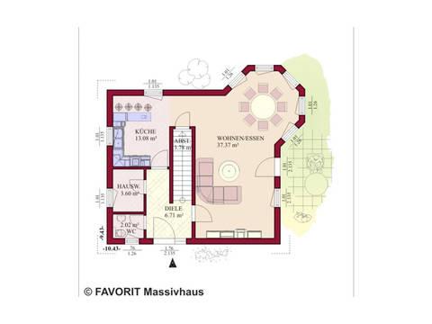 Haus Select 130 Grundriss Erdgeschoss