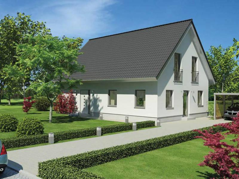 ICON-Modulhaus 4.02 Ansicht 2 von Dennert Massivhaus