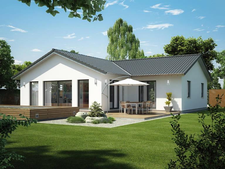 Winkelbungalow ICON 6.1 von Dennert Massivhaus