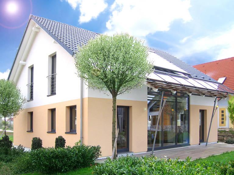 Fertigbau Wochner Wochner-Passivhaus, Hausausstellung Fellbach