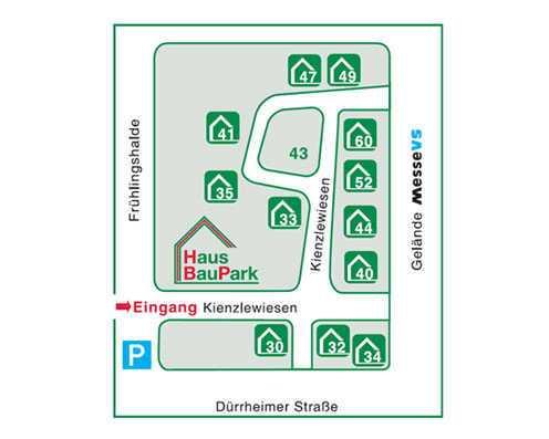 Lageplan HausBauPark Villingen-Schwenni