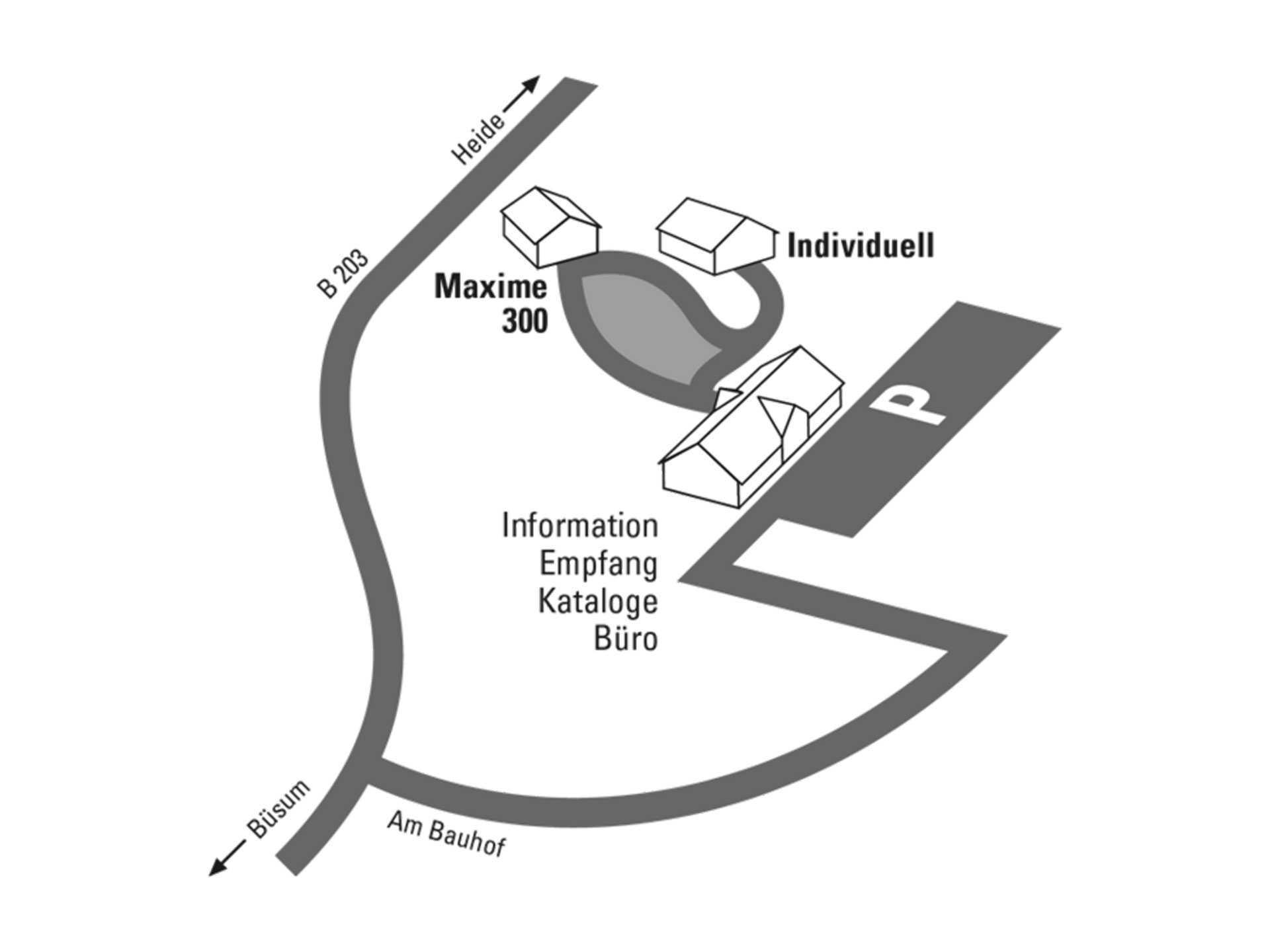 Lageplan Musterhauspark Büsum