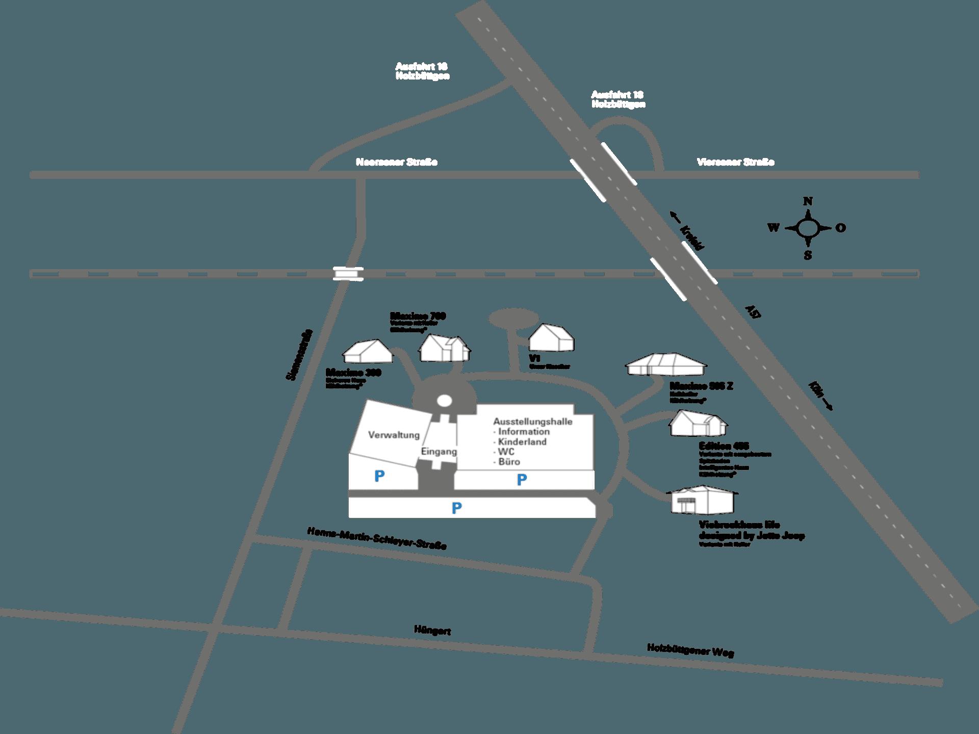 Viebrockhaus Hausaustellung Kaarst Lageplan