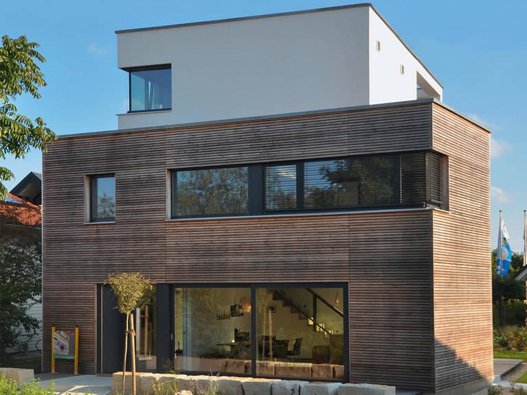 Gruber Naturholzhaus Musterhaus Poing, Bauzentrum Poing