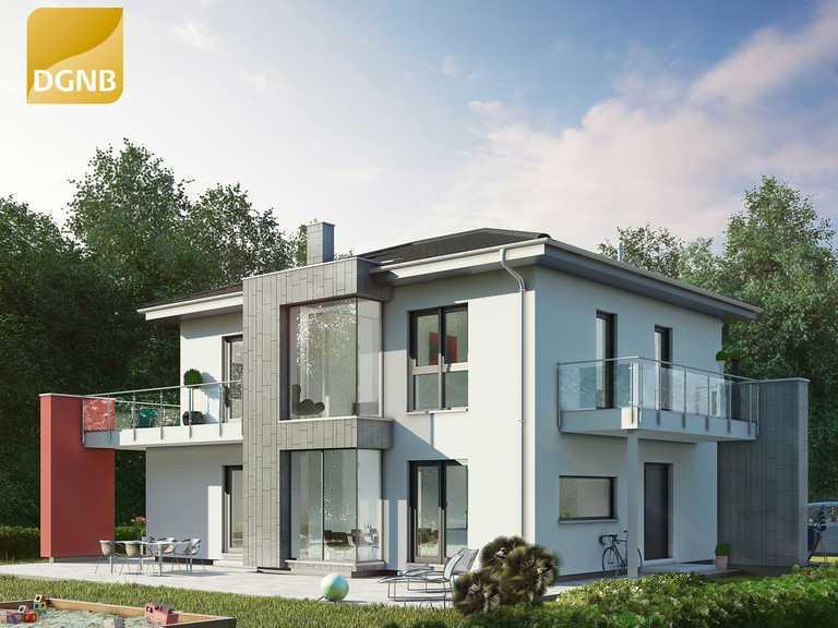 OKAL Haus Musterhaus Grüne Stadtvilla, Bauzentrum Poing