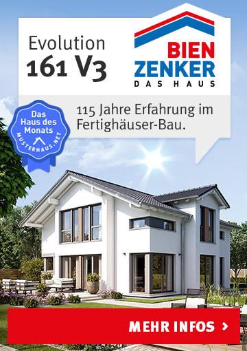 Einfamilienhaus EVOLUTION 161 V3 von Bien-Zenker - Haus des Monats April