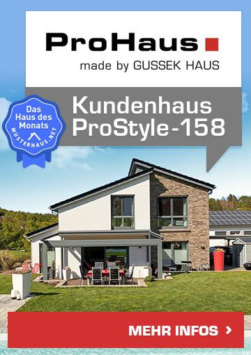 Einfamilienhaus ProStyle 158 von ProHaus - Haus des Monats Mai