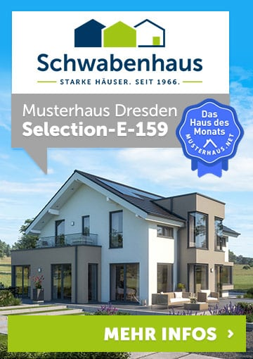 Musterhaus Dresden – Selection-E-159 von Schwabenhaus – Haus des Monats Oktober